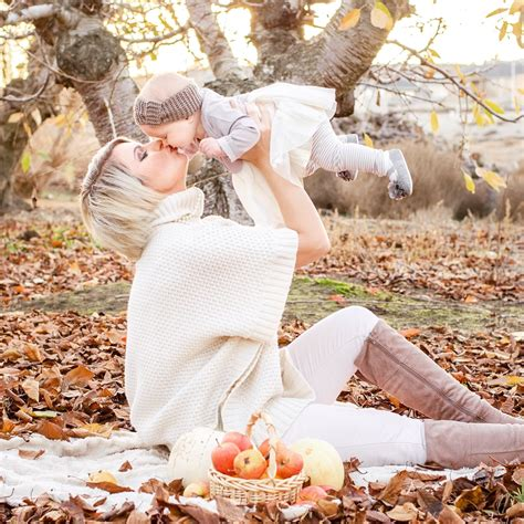 Mommy and baby girl fall outdoor photo shoot