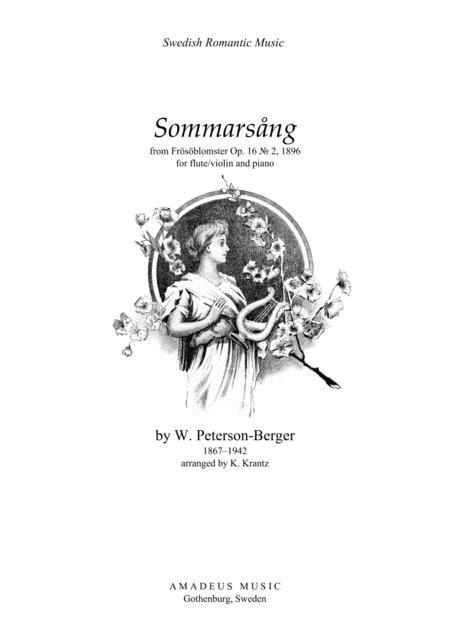 Sommarsång (Summer Song) For Flute And Piano By W