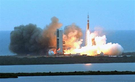mars-destined NASA orion spacecraft launches for first