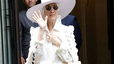 Celine Dion Slays All-White Couture Jumpsuit in France