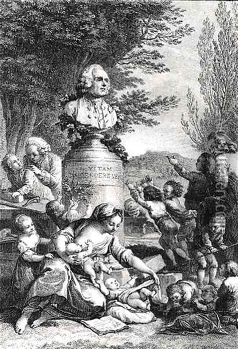 Frontispiece to 'Emile' by Jean-Jacques Rousseau (1712-78