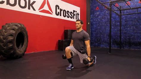"""Reebok CrossFit ONE Movement Demo """"Dumbbell Jumping Lunge"""