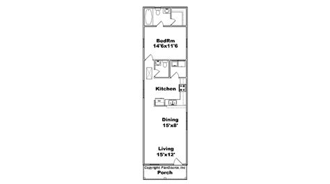 1 Bedroom house plan, Cottage | PlanSource, Inc