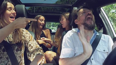 Happy Family Dancing Driving Car Stock Footage Video (100%