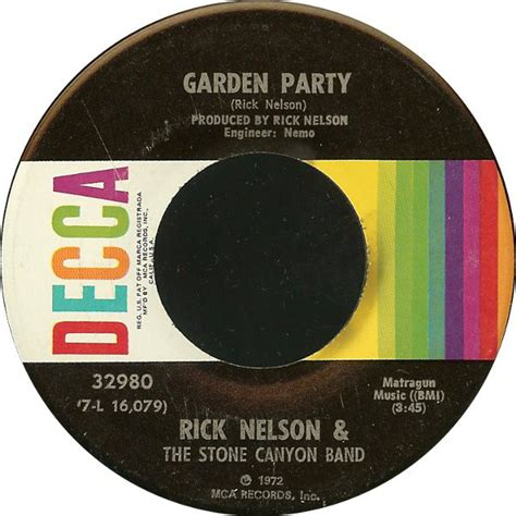 Rick Nelson & The Stone Canyon Band - Garden Party (1972