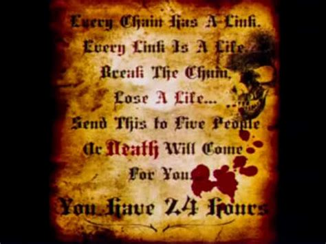 Scary Chain Letters   Scary Website
