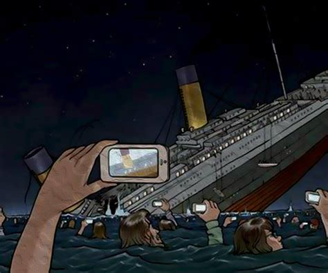 If the Titanic Sank Today   JPEGY - What the Internet was