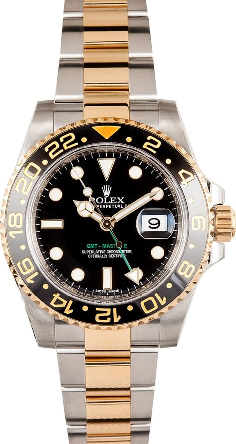 Used Rolex GMT Master II Stainless Steel and Gold Mens