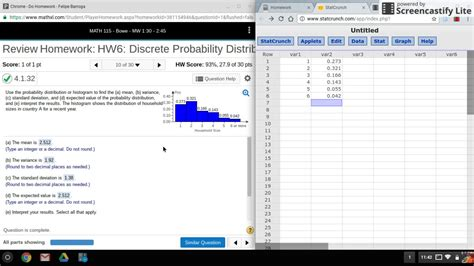 StatCrunch: Finding mean, variance, and standard deviation