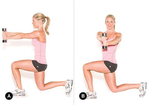 Move of the Week: Lunging Twist with Dumbbells   Leg day