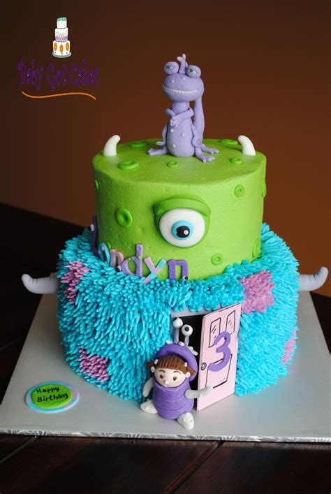 Monsters Inc Two Tier - CakeCentral