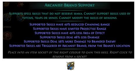 Arcanist Brand Support PoE Build 3