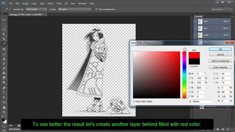 Photoshop Tutorial: Remove Background and make it