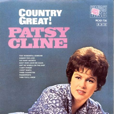 Country Great - Patsy Cline   Songs, Reviews, Credits