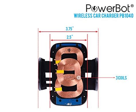 PowerBot® PB1040 Qi Wireless Car Charger Qi Enabled