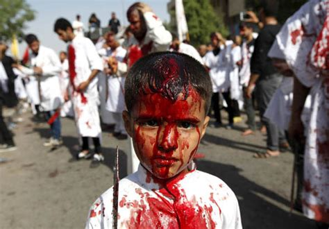 Ashura 2015 - Graphic images captured of Islamic ritual of