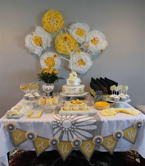 Yellow & Gray Elephant Themed Baby Shower | Hostess With