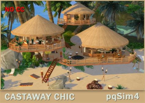 PQSims4: Living Castaway Chic • Sims 4 Downloads