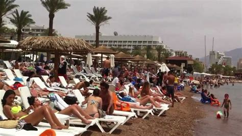 Video Postcard: The Densely Packed Beach at Eilat, Israel
