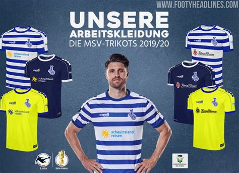 MSV Duisburg 19-20 Home, Away, Third and Goalkeeper Kits