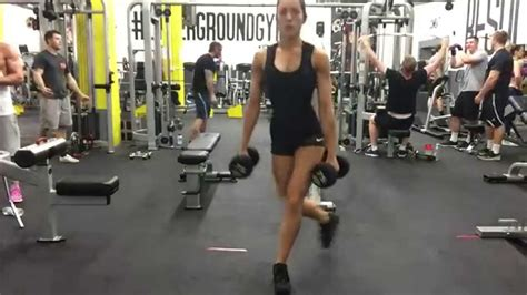 CURTSY LUNGE - Dumbbell - YouTube