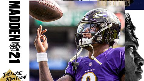 Madden '21 cover featuring Lamar Jackson revealed