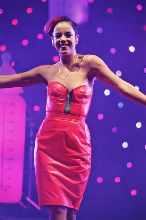 Lily Allen performs at Indian Summer Festival - Leather