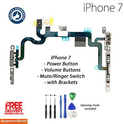 NEW iPhone 7 Power Volume Mute Ringer Buttons Camera Flash