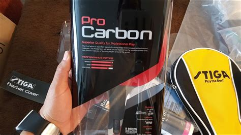 Stiga Pro Carbon - Unboxing and quick review - YouTube