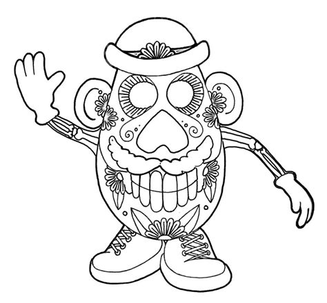 Get This Day of the Dead Coloring Pages Online Printable