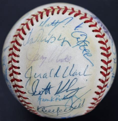 1995 Twins OAL Baseball Signed by (36) with Kirby Puckett