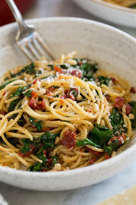 Sun Dried Tomato Pasta with Spinach - Cooking Classy