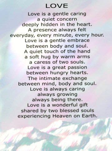 Love Is A Gentle Caring Short Love Poems For Her That Will