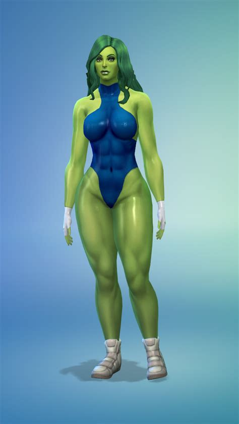 [Sims 4] She-Hulk Suit - Downloads - The Sims 4 - LoversLab